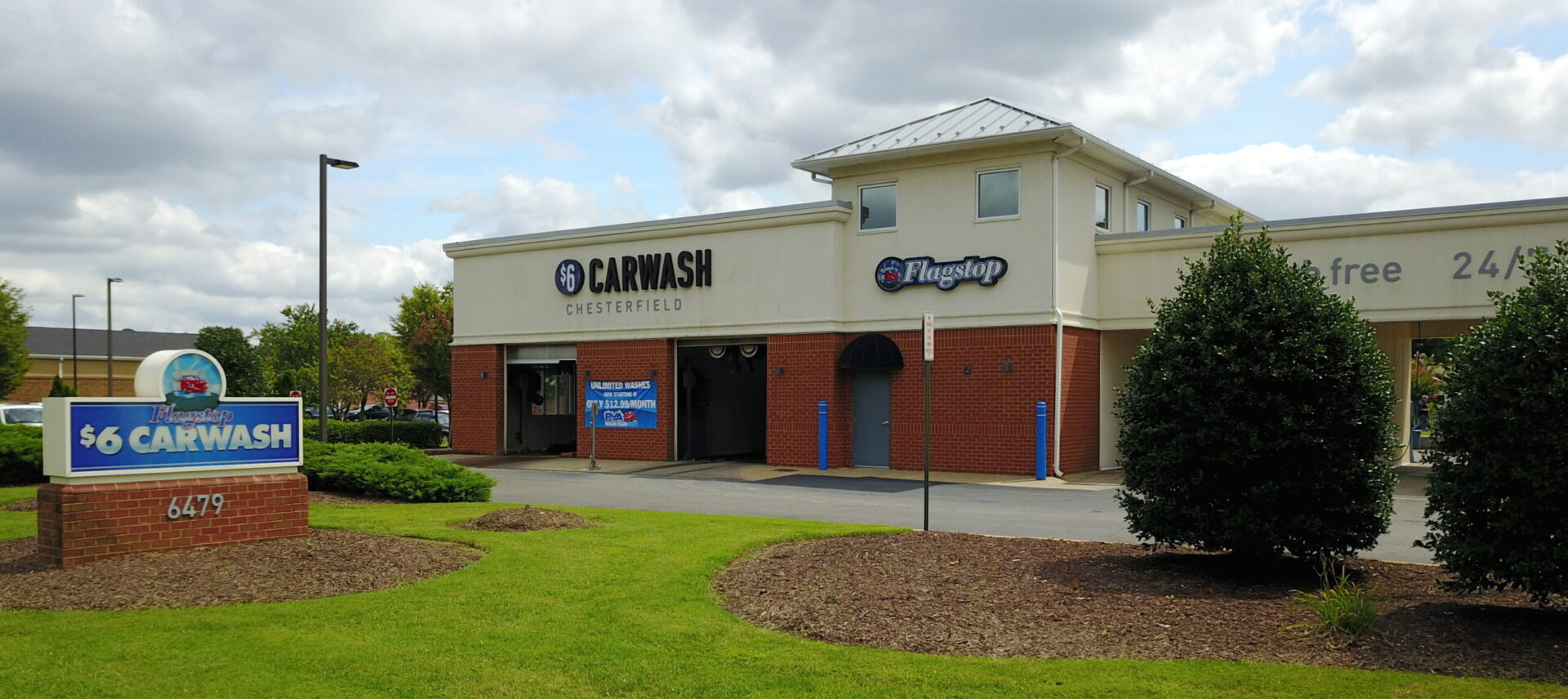 Outside photo of flagstop's 24-hour car wash / self-service in chester va